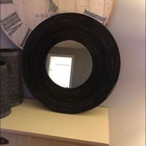 Other - Black framed rustic wall mirror